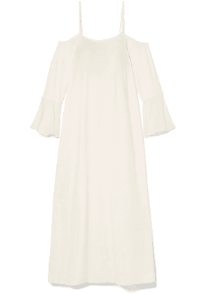 Skin - Cold-shoulder Cotton-jersey Nightdress - Off-white