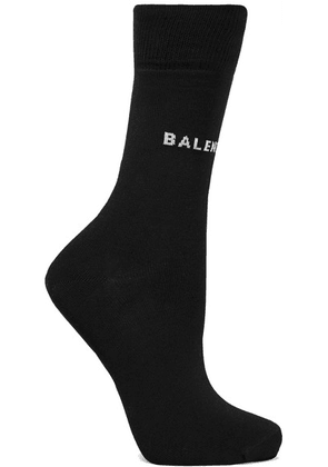 Balenciaga - Intarsia Cotton-blend Socks - Black