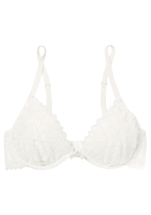 Eberjey - Rosario The Plunge Stretch-corded Lace Underwired Bra - Ivory
