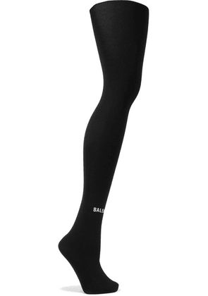 Balenciaga - Printed Tights - Black
