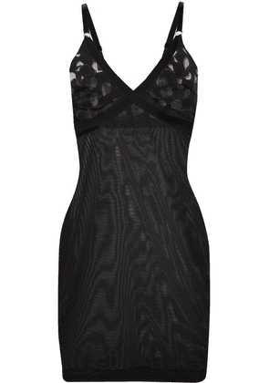Wolford - Amelia Forming Devoré-jersey And Tulle Chemise - Black