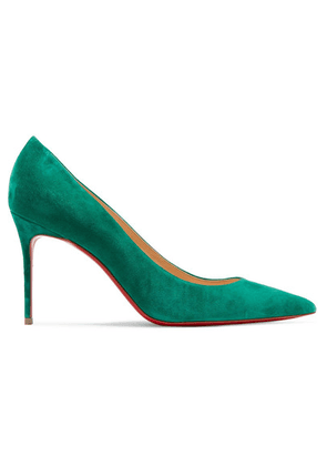 d3524a91ef38 Christian Louboutin - Décolleté 554 85 Suede Pumps - Green