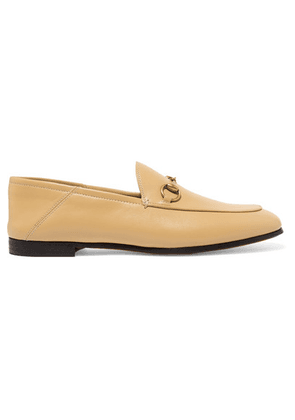 Gucci - Brixton Horsebit-detailed Leather Collapsible-heel Loafers - Sand