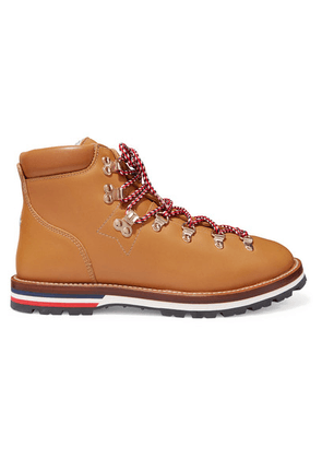 Moncler - Blanche Shearling-lined Leather Ankle Boots - Tan