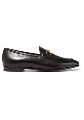 Gucci - Jordaan Horsebit-detailed Leather Loafers - Black