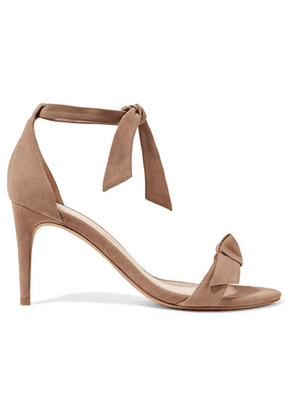 Alexandre Birman - Clarita Bow-embellished Suede Sandals - Taupe