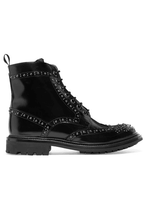 Church's - Angelina Studded Glossed-leather Ankle Boots - Black