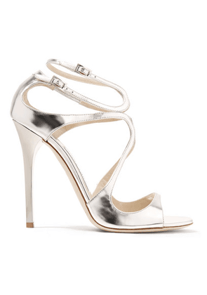 Jimmy Choo - Lance 115 Metallic Leather Sandals - Silver