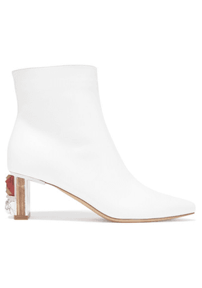 Gabriela Hearst - Raya Leather Ankle Boots - White