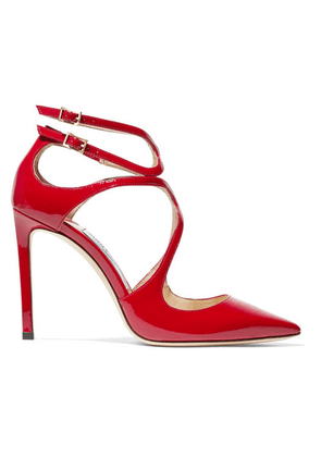Jimmy Choo - Lancer 100 Patent-leather Pumps - Red