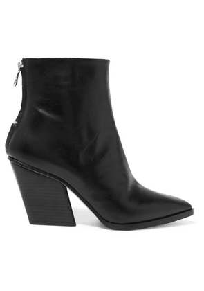 aeyde - Cherry Leather Ankle Boots - Black