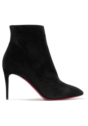 Christian Louboutin - Eloise 85 Suede Ankle Boots - Black