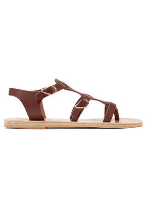 Ancient Greek Sandals - Grace Kelly Leather Sandals - Chocolate
