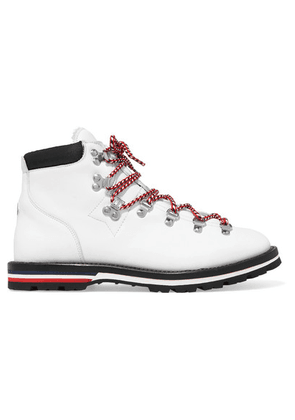 Moncler - Blanche Shearling-lined Leather Ankle Boots - White