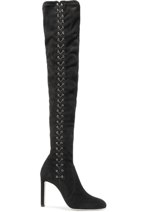 Jimmy Choo - Marie Lace-up Suede Over-the-knee Boots - Black