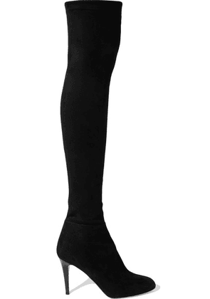 Jimmy Choo - Toni 90 Stretch-suede Over-the-knee Boots - Black
