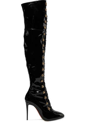 Christian Louboutin - Frenchissima Alta 100 Patent-leather Over-the-knee Boots - Black