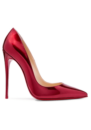 Christian Louboutin - So Kate 120 Metallic Patent-leather Pumps - Red