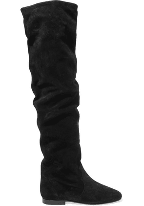 Isabel Marant - Ranald Suede Over-the-knee Boots - Black