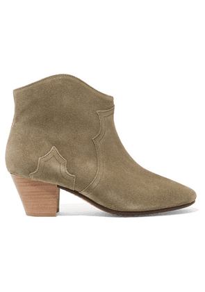 Isabel Marant - Étoile The Dicker Suede Ankle Boots - Beige