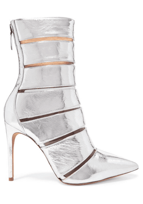 Alexandre Birman - Sommer Metallic Leather And Perspex Ankle Boots - Silver