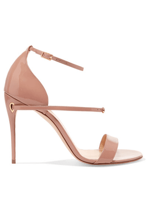 Jennifer Chamandi - Rolando Patent-leather Sandals - Neutral