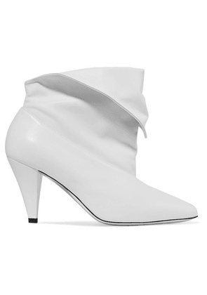 Givenchy - Fold-over Leather Ankle Boots - White