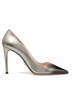 Prada - Ombré Patent-leather Pumps - Silver