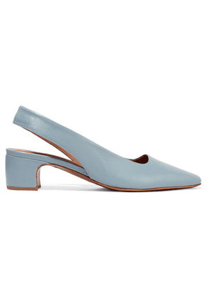 BY FAR - Danielle Leather Slingback Pumps - Blue