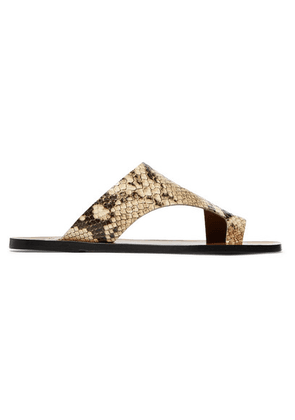 ATP Atelier - Roma Snake-effect Leather Sandals - Snake print