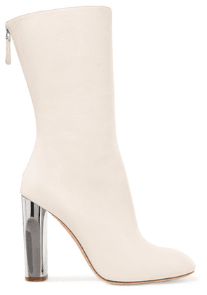 Alexander McQueen - Leather Boots - Ivory