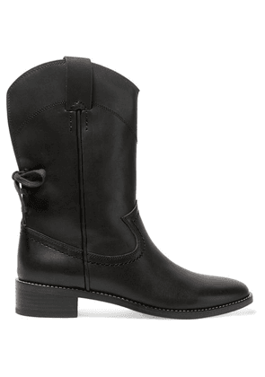 See By Chloé - Salvador Leather Ankle Boots - Black