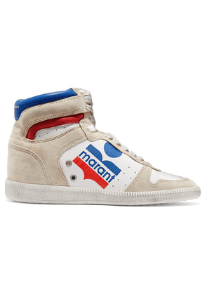 Isabel Marant - Bayten Logo-print Leather And Suede Sneakers - White