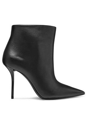 Saint Laurent - Pierre Leather Ankle Boots - Black