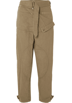 JW Anderson - Belted Cotton-canvas Pants - Army green
