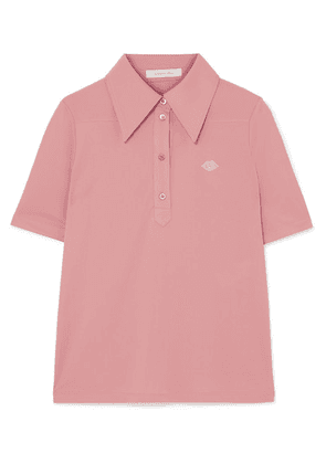 See By Chloé - Embroidered Stretch-jersey Polo Shirt - Baby pink