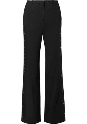 See By Chloé - Embellished Stretch-crepe Flared Pants - Black