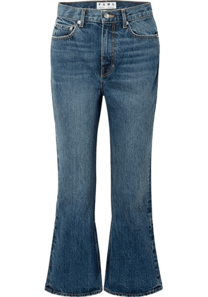 Proenza Schouler - Pswl Cropped High-rise Flared Jeans - Blue