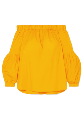 MICHAEL Michael Kors - Off-the-shoulder Stretch-cotton Top - Yellow