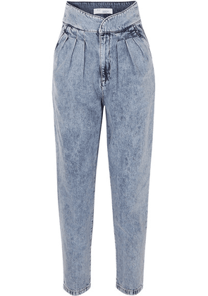IRO - Staunch Pleated High-rise Tapered Jeans - Mid denim