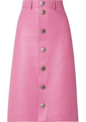 Balenciaga - Leather Midi Skirt - Baby pink