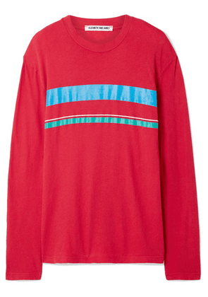 Elizabeth and James - Melody Striped Cotton-jersey Top - Red