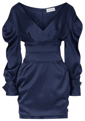 Alexandre Vauthier - Off-the-shoulder Satin Mini Dress - Navy