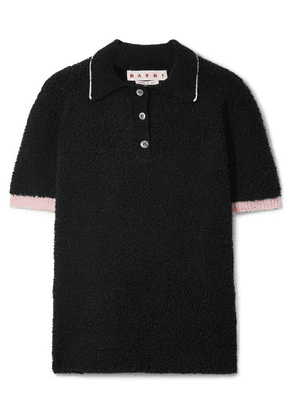 Marni - Wool-blend Bouclé Polo Shirt - Black