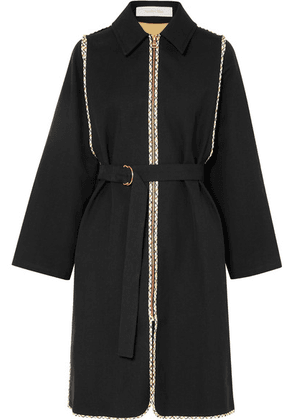 See By Chloé - Belted Cotton-twill Coat - Black