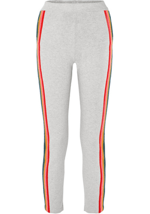 Allude - Striped Wool-blend Track Pants - Gray