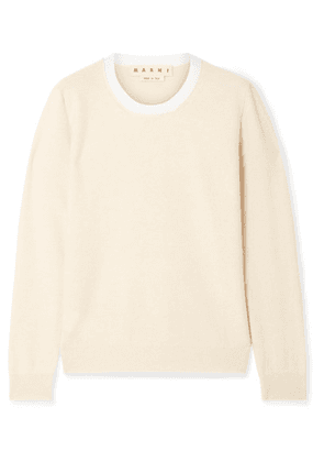 Marni - Two-tone Cashmere Sweater - Beige