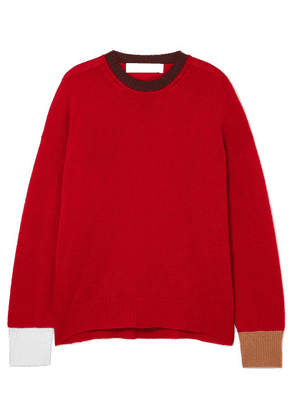 Marni - Color-block Cashmere Sweater - Red