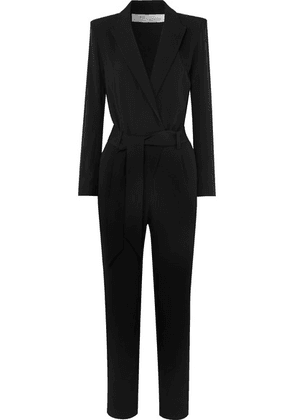 IRO - Delicate Belted Wrap-effect Crepe Jumpsuit - Black