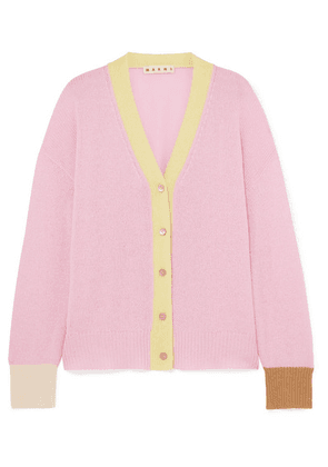 Marni - Striped Cashmere Cardigan - Pink